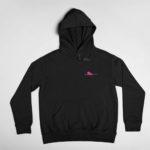 hoodie Single Plane logo (black pink)