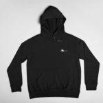 hoodie Single Plane logo (black white)