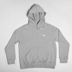 hoodie Single Plane logo (grey white)