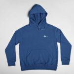 hoodie Single Plane logo (navy blue white)