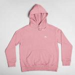 hoodie Single Plane logo (pink white)