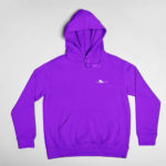 hoodie Single Plane logo (purple white)