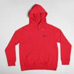 hoodie Single Plane logo (red black)