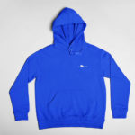 hoodie Single Plane logo (royal blue white)