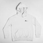 hoodie Single Plane logo (white black)