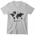 men_s vneck Map logo (grey black)