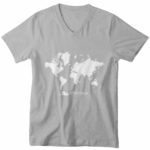 men_s vneck Map logo (grey white)