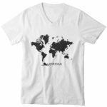 men_s vneck Map logo (white black)