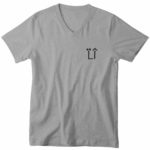 mens vneck L.I. logo (gray back)
