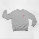 sweatshirt L.I. logo (grey red)