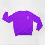 sweatshirt L.I. logo (purple white)