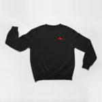 sweatshirt Single Plane logo (black red)