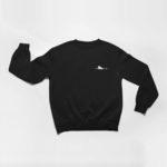 sweatshirt Single Plane logo (black white)
