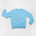 sweatshirt Single Plane logo (carolina blue white)