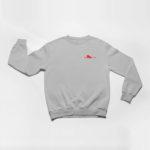sweatshirt Single Plane logo (grey red)