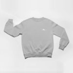 sweatshirt Single Plane logo (grey white)