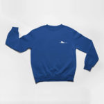 sweatshirt Single Plane logo (navy blue white)