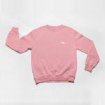 sweatshirt Single Plane logo (pink white)