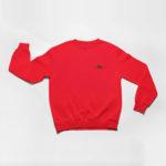 sweatshirt Single Plane logo (red black)