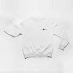 sweatshirt Single Plane logo (white black)