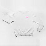 sweatshirt Single Plane logo (white pink)