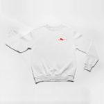 sweatshirt Single Plane logo (white red)