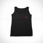 women_s tank L.I. logo (black red)