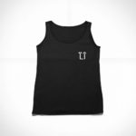 women_s tank L.I. logo (black white)