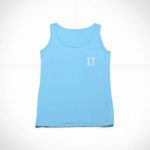 women_s tank L.I. logo (carolina blue white)