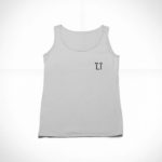 women_s tank L.I. logo (grey black)