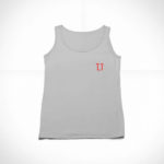 women_s tank L.I. logo (grey red)