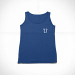 women_s tank L.I. logo (navy blue white)
