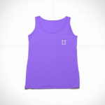 women_s tank L.I. logo (purple white)