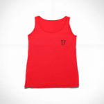 women_s tank L.I. logo (red black)