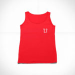 women_s tank L.I. logo (red white)