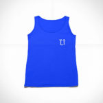 women_s tank L.I. logo (royal blue white)