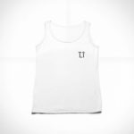 women_s tank L.I. logo (white black)