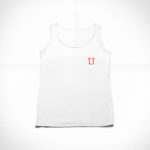women_s tank L.I. logo (white red)
