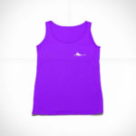 women_s tank Single Plane logo (purple white)
