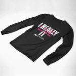 longsleeve IREALLYLIVEIT logo (black pink white)
