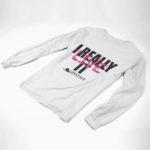 longsleeve IREALLYLIVEIT logo (white pink black)