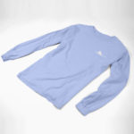 longsleeve SINGLE PLANE logo (carolina blue white)