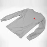 longsleeve SINGLE PLANE logo (gray red)