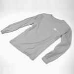longsleeve SINGLE PLANE logo (gray white)