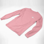 longsleeve SINGLE PLANE logo (pink white)