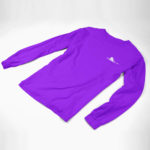 longsleeve SINGLE PLANE logo ( purple white)