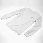 longsleeve SINGLE PLANE logo ( white pink)