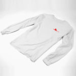 longsleeve SINGLE PLANE logo (white red)