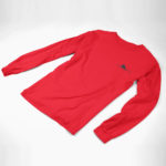 longsleeve single plane logo (red black)
