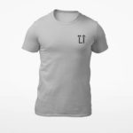 men_s tee L.I. logo (grey black)